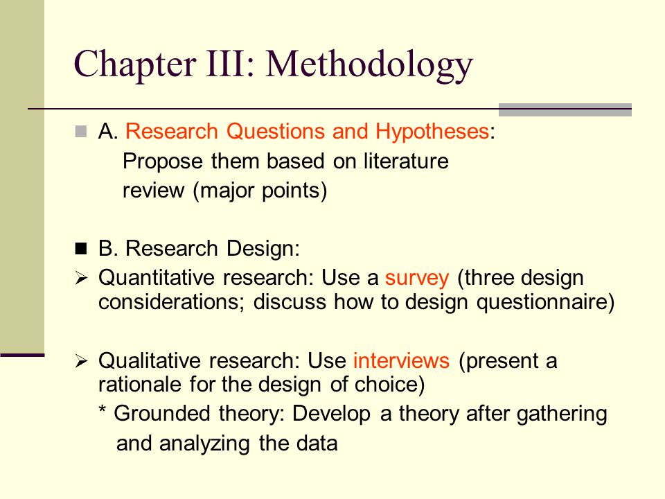 research methodology outline