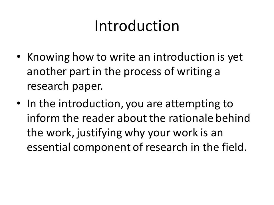 Write my introduction to research paper writing