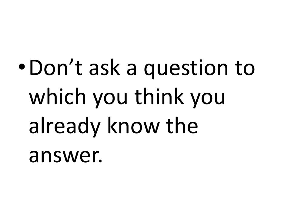 Can you ask a question in a research paper