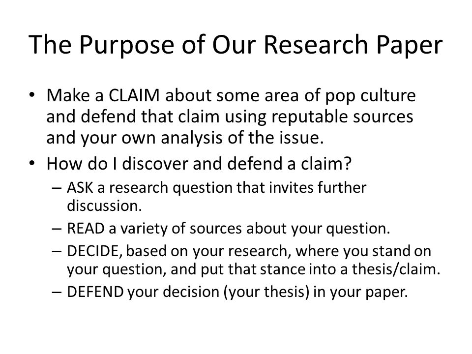 Critical research paper