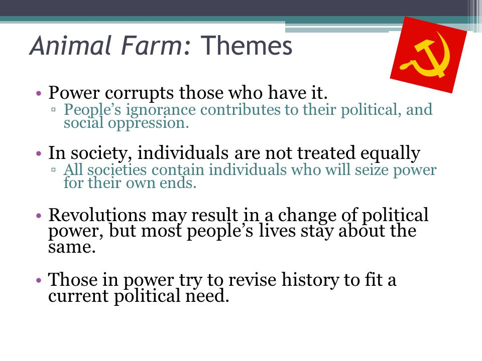 corruption in animal farm essay