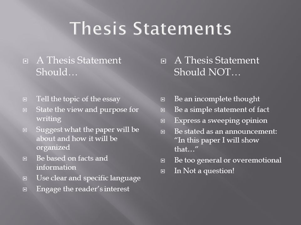 what is an effective thesis statement Thesis statements: four steps to a great essay, using an example from the scarlet letter by nathaniel hawthorne | excerpt from how to write an a+ essay: a.