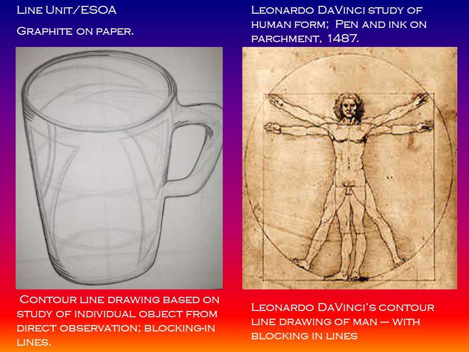 Contour Line Drawing Leonardo Da Vinci : Final exam your name course title instructor s date ppt