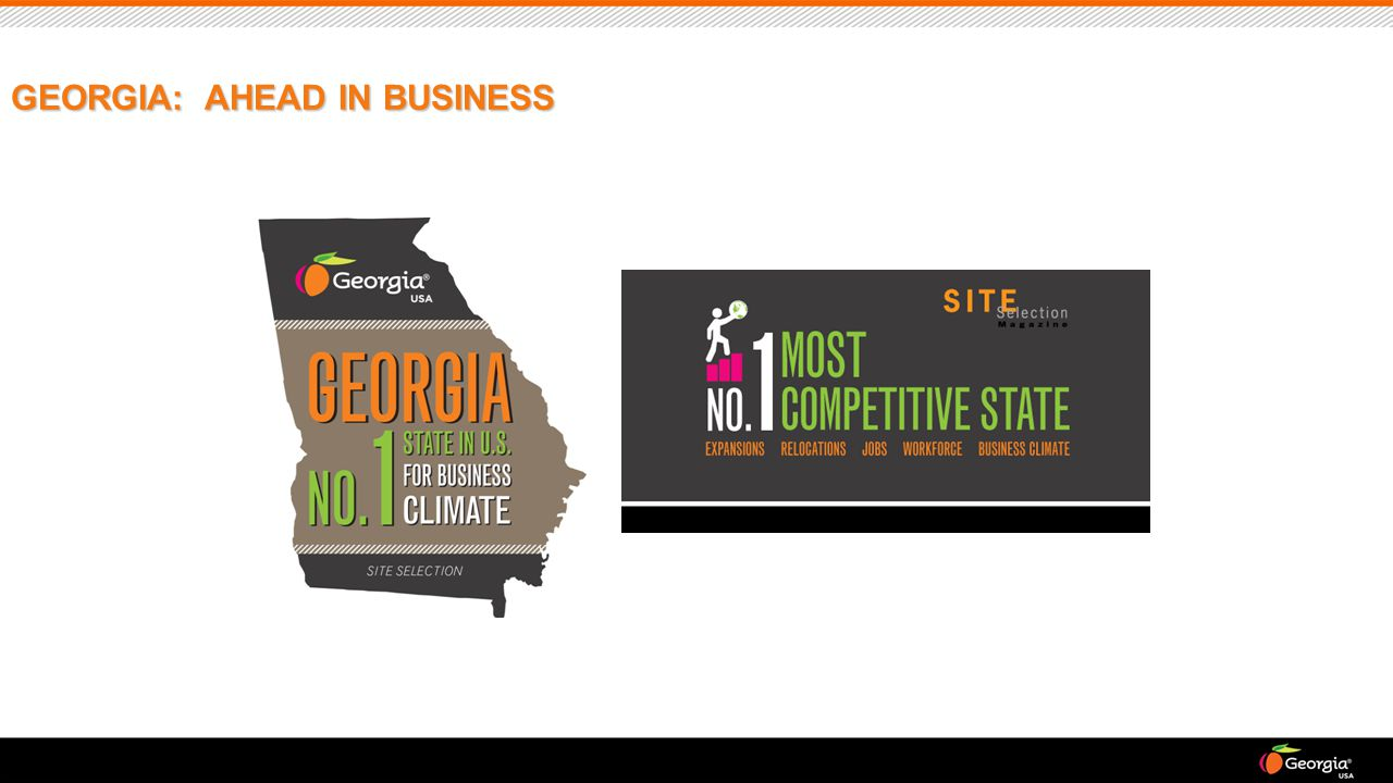 GEORGIA: AHEAD IN BUSINESS