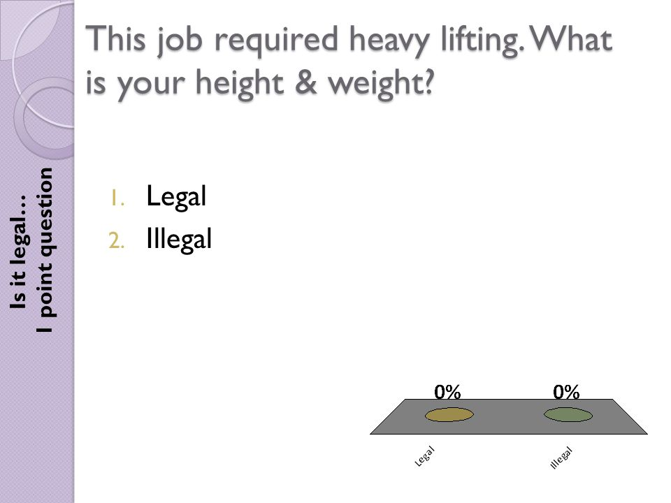 This job required heavy lifting. What is your height & weight.