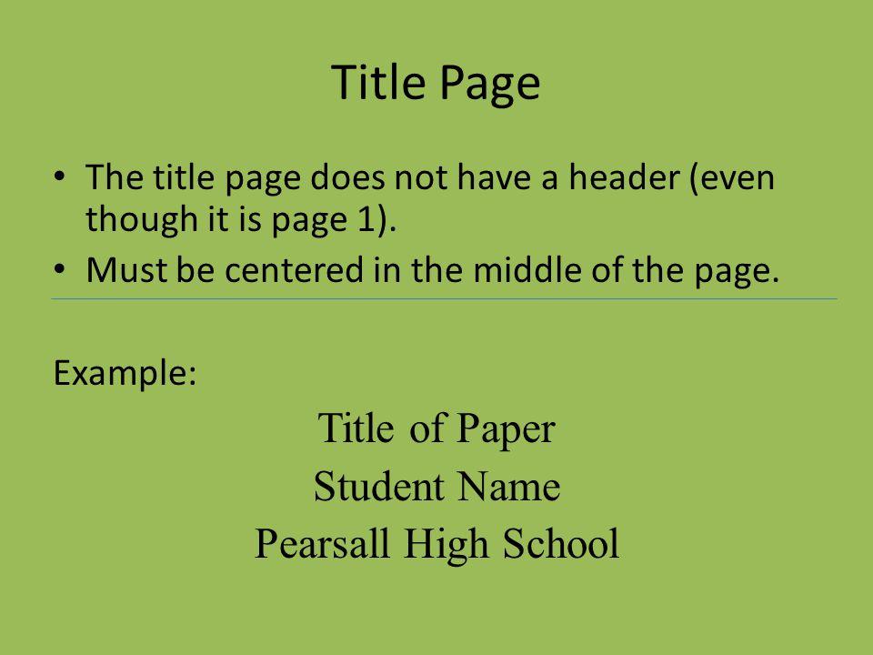 essay titles underlined mla
