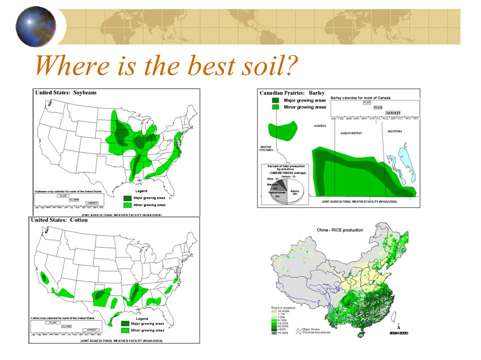 best soil for agriculture in the world
