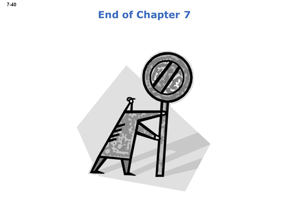 7-40 End of Chapter 7