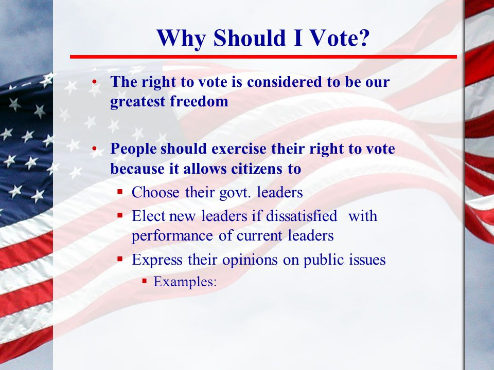 Why Should I Vote.