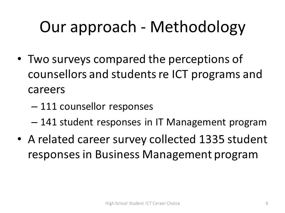 Career choice factors of high school students