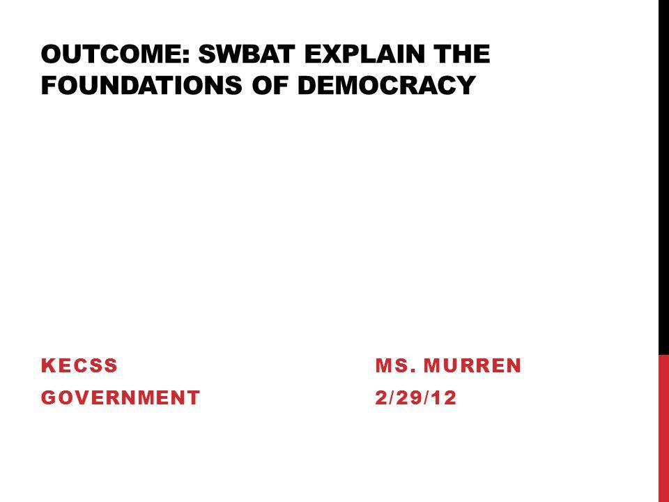 foundation of democracy essay
