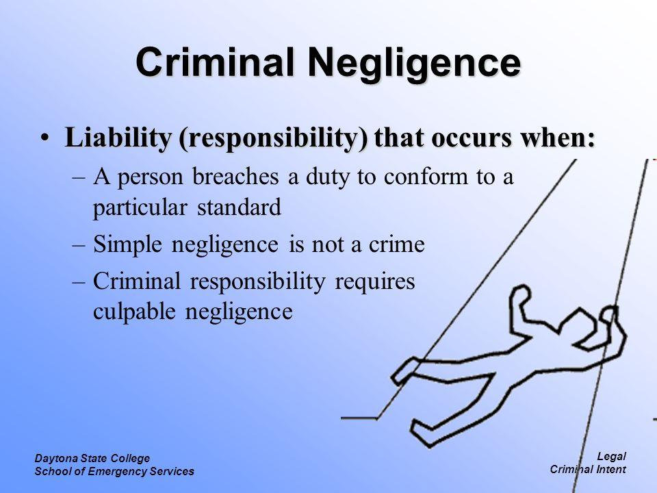 liability or responsibility