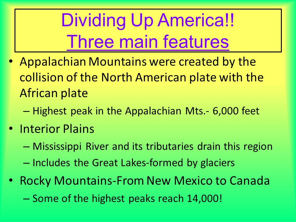 United States Map Political Map Ppt Video Online Download - Appalachian and rockies on us map