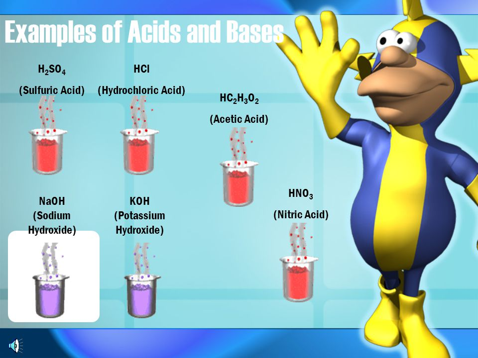 Examples of Acids and Bases