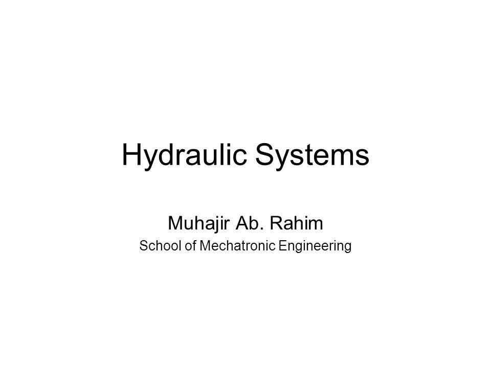 Hydraulic Systems Muhajir Ab. Rahim School of Mechatronic Engineering