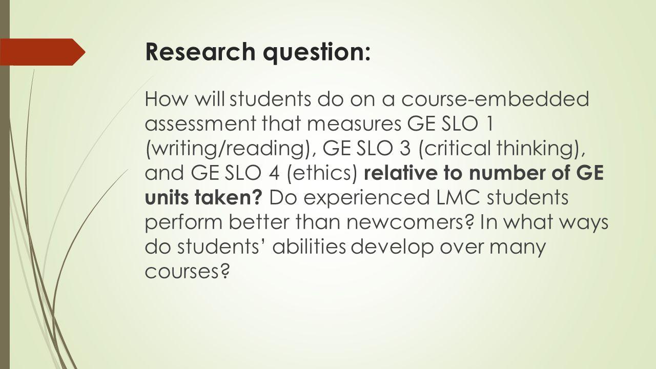 James Madison University   Learning Improvement Example Study com