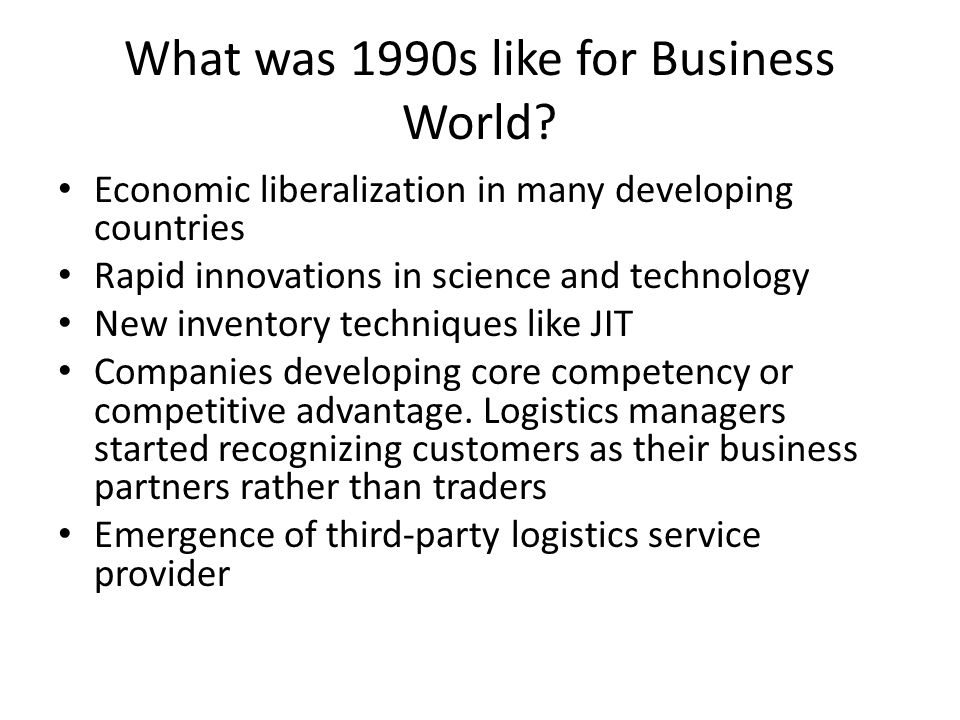What was 1990s like for Business World.