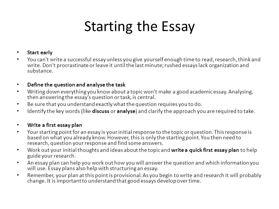 how write a essay