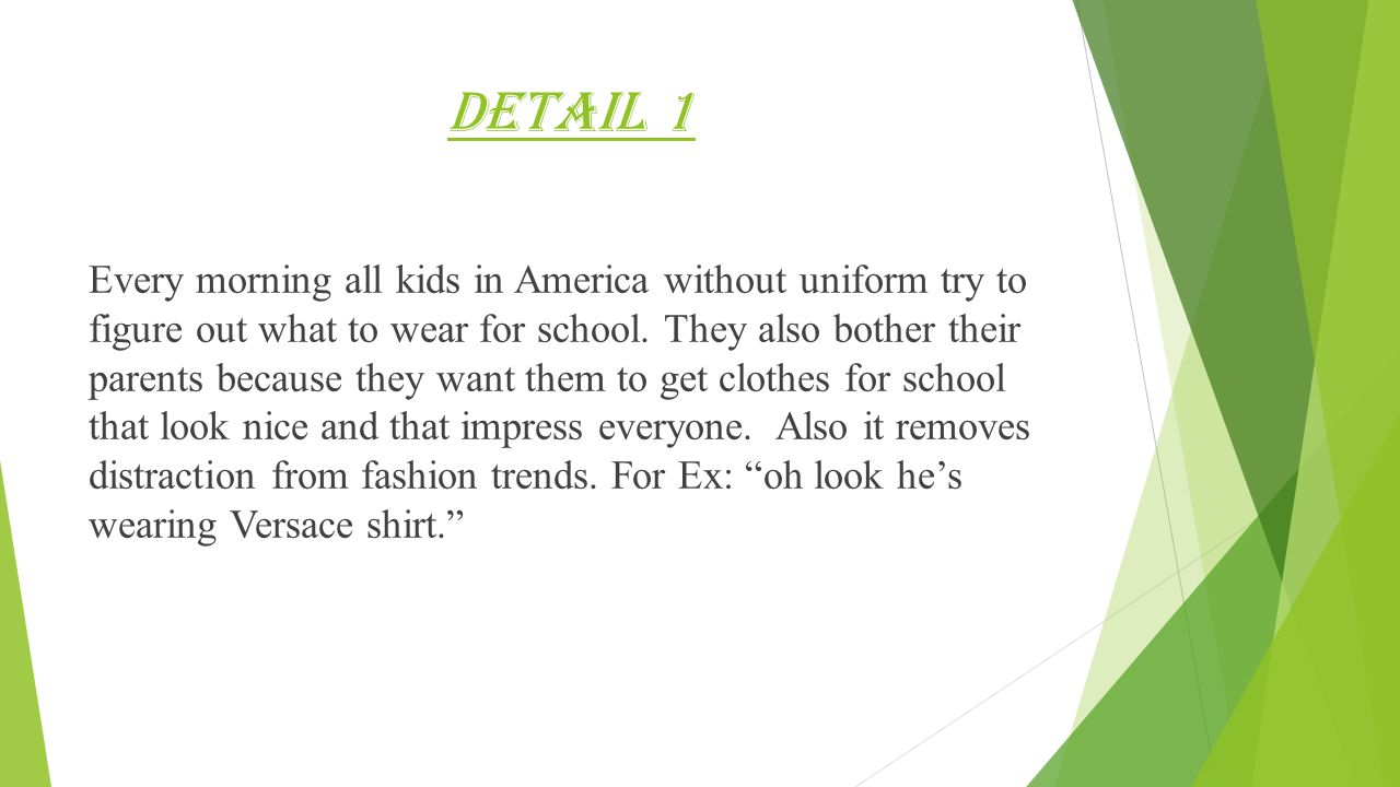 school uniforms by abdulaziz al halmi 8b hook 61557 students detail 1 every morning all kids in america out uniform try to figure out what to