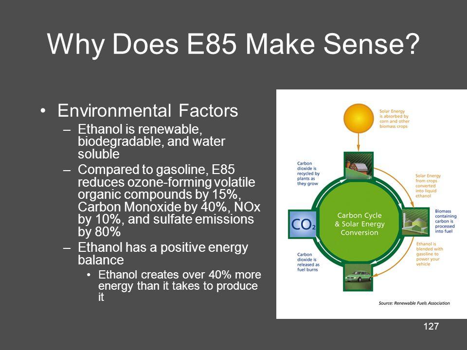 127 Why Does E85 Make Sense.