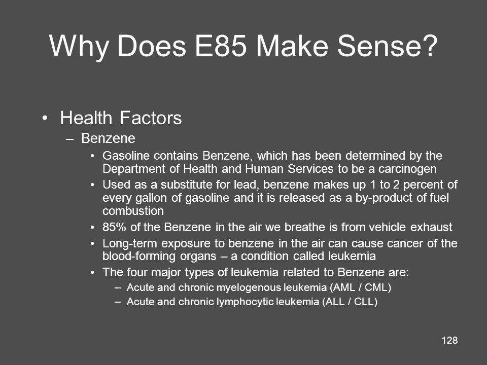 128 Why Does E85 Make Sense.