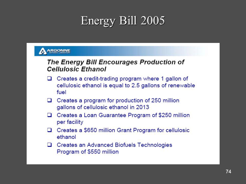 74 Energy Bill 2005