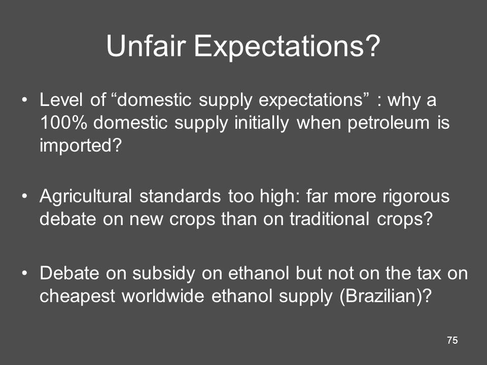 75 Unfair Expectations.