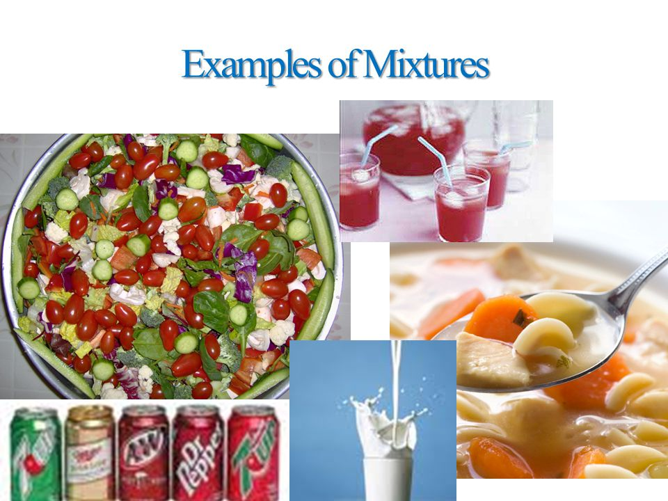 Examples of Mixtures Malleability Examples