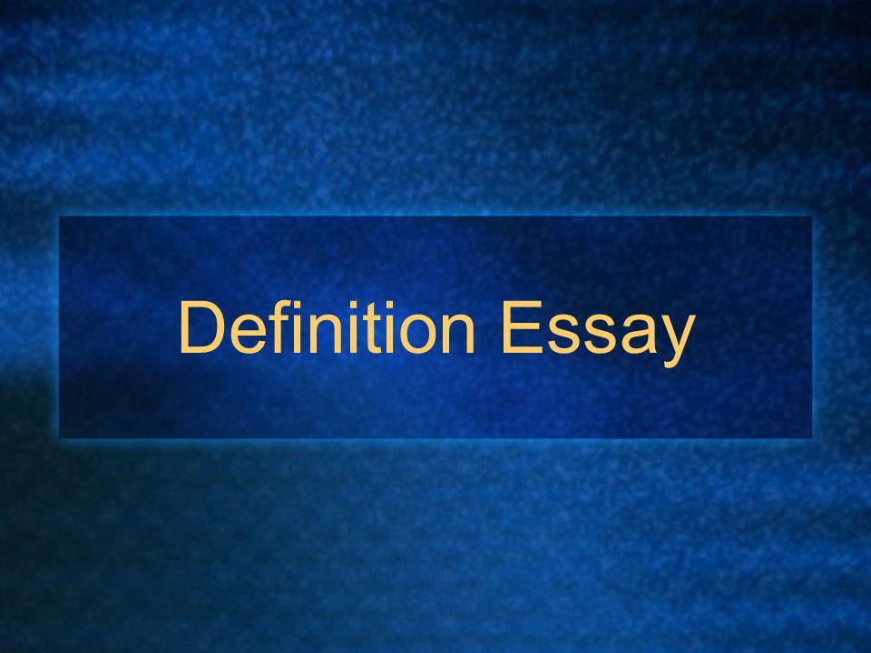 Concept Definition Essay