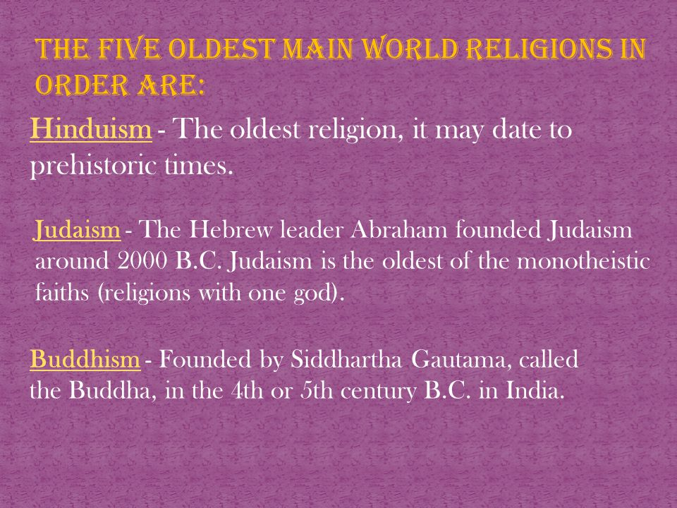 World Religions The Largest Main World Religions In Order Are - World's largest religions in order