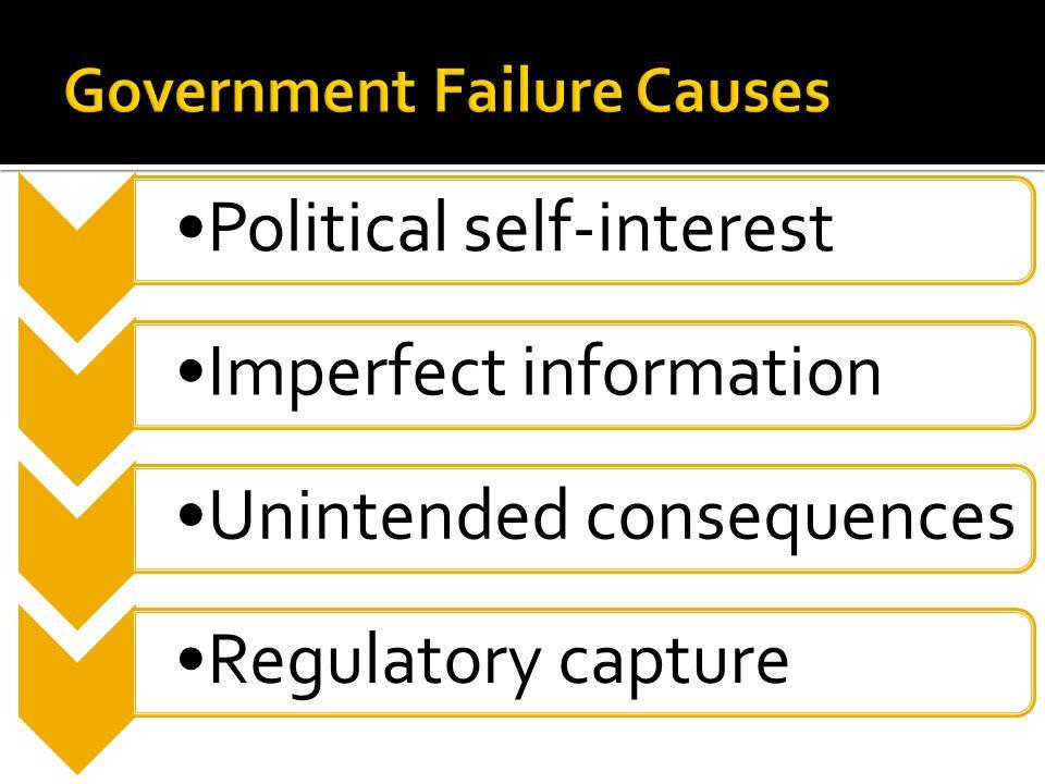 Political self-interestImperfect informationUnintended consequencesRegulatory capture