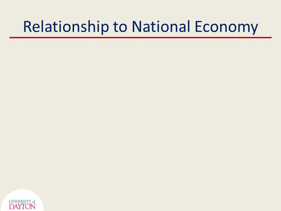Relationship to National Economy