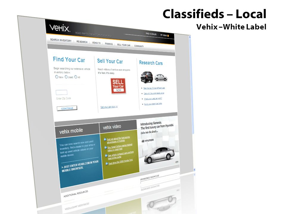 Classifieds – Local Vehix –White Label