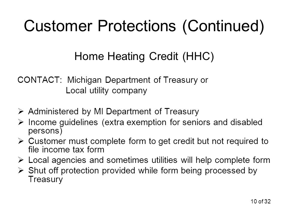 1 of 32 Consumer Rights & Responsibilities, Protections Energy ...