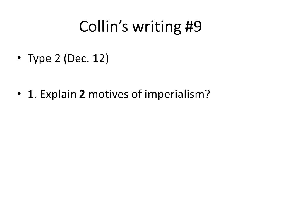 Writing an intro paragraph about Imperialism. PLEASE HELP?