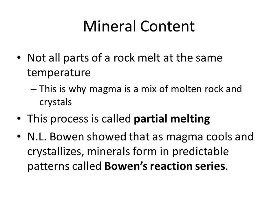 Chapter 5.1 – Igneous Rocks Magma – molten rock below Earth's ...