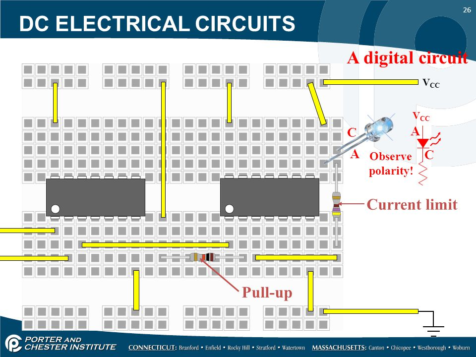 26 V CC A digital circuit Pull-up Current limit V CC Observe polarity.