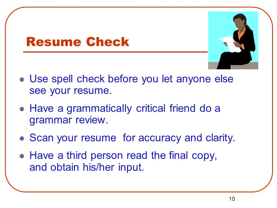 resume writing assistant