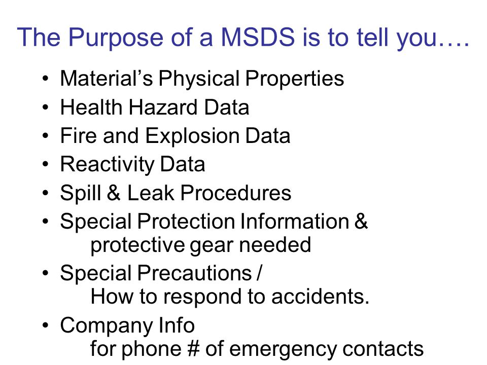 Worksheet Msds Worksheet msds material safety data sheet the lists chemical purpose of a is to tell materials physical properties health hazard