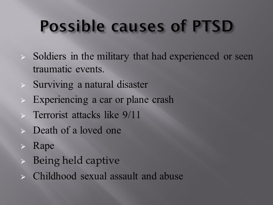  Soldiers in the military that had experienced or seen traumatic events.