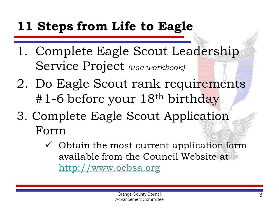 Orange County Council Advancement Committee 1 Life to Eagle For ...