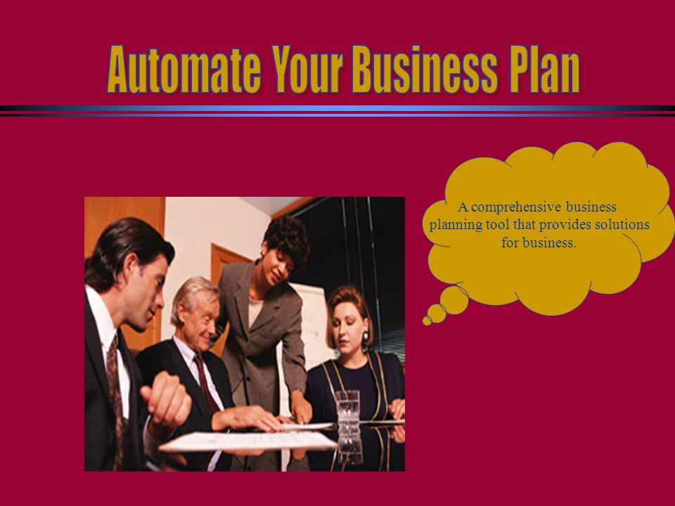 Automate your business plan