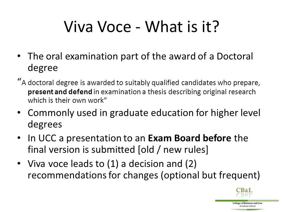 Dissertation Viva