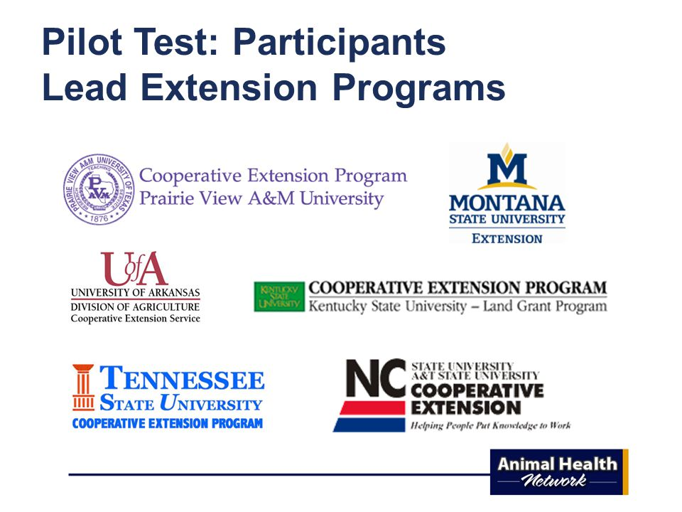 Pilot Test: Participants Lead Extension Programs