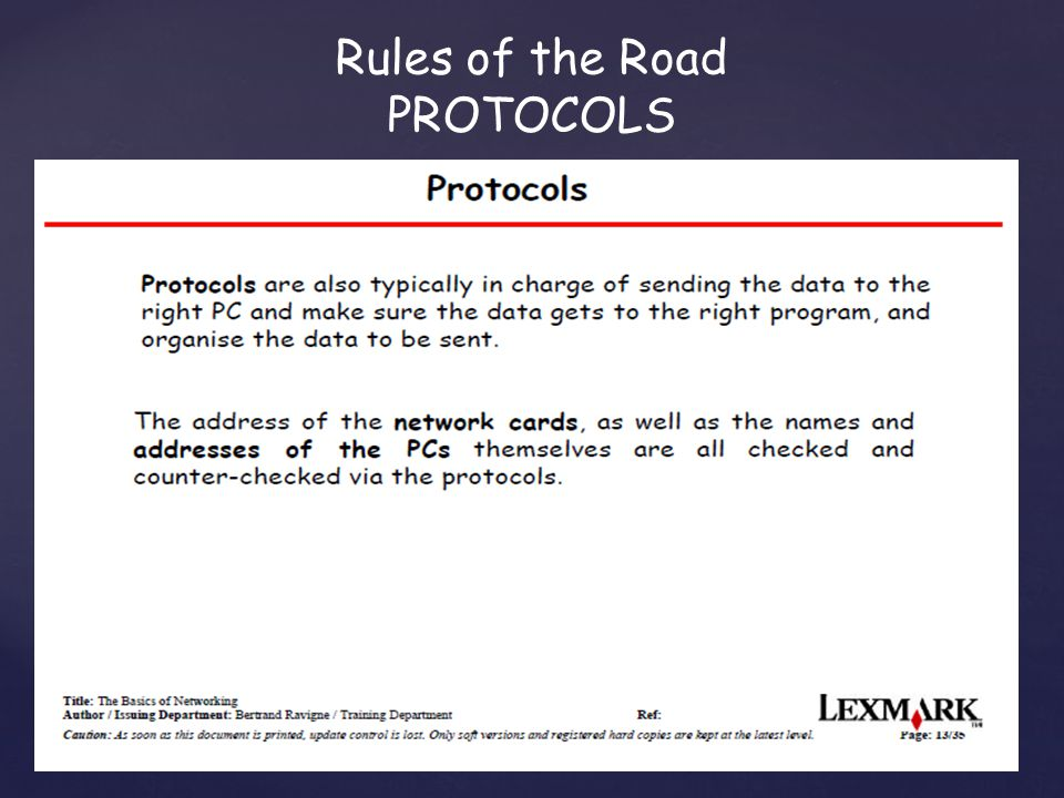 Rules of the Road PROTOCOLS