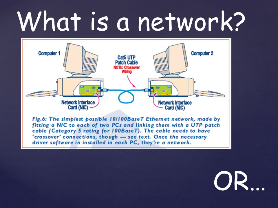 What is a network OR…