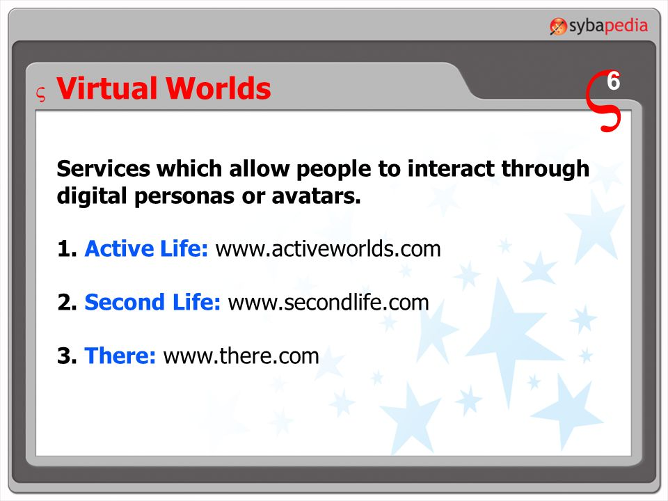 Services which allow people to interact through digital personas or avatars.
