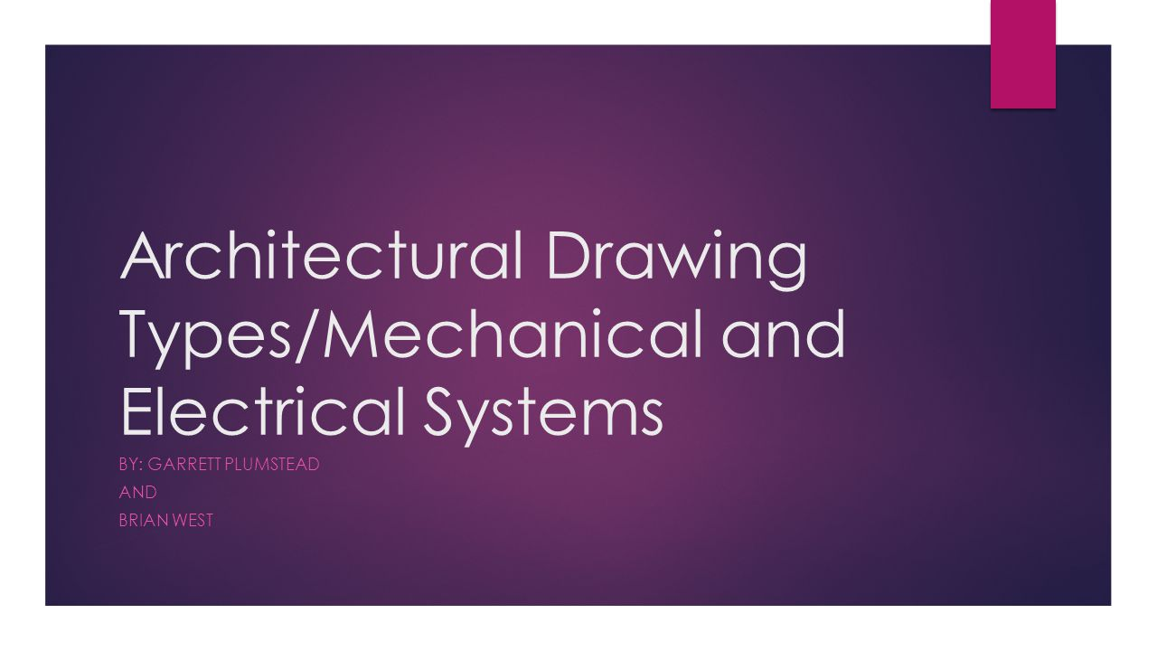 Architectural Drawing Types Mechanical And Electrical Systems By
