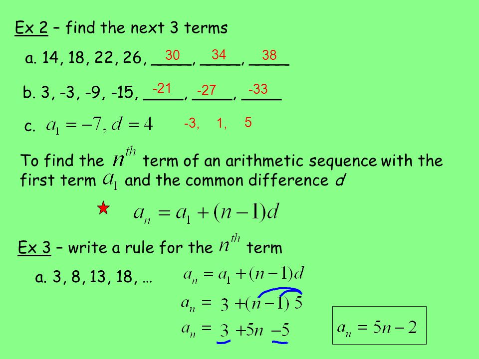 Arithmetic sequences and series worksheet pdf
