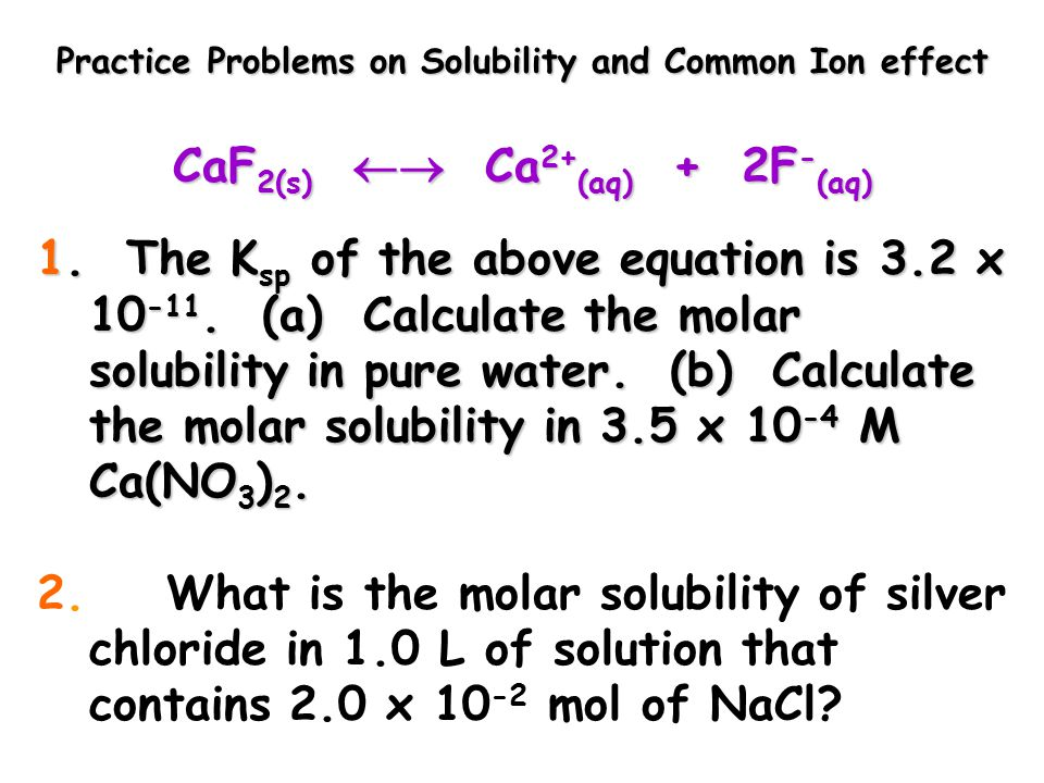 solubility of compounds in water and